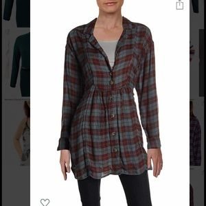 Free People All About The Feels Button Down